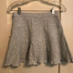 Free People Black/White Mini Skirt size 2